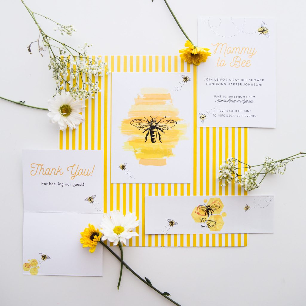 honeybee party in a box, Scarlett Collection