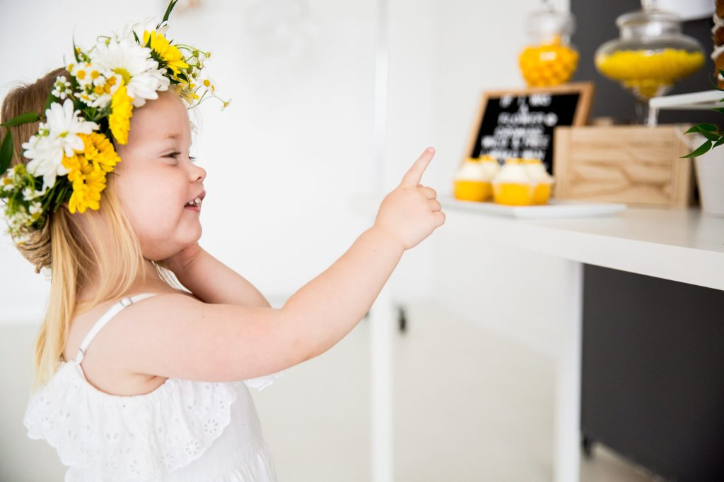 cute little girl bee themed birthday