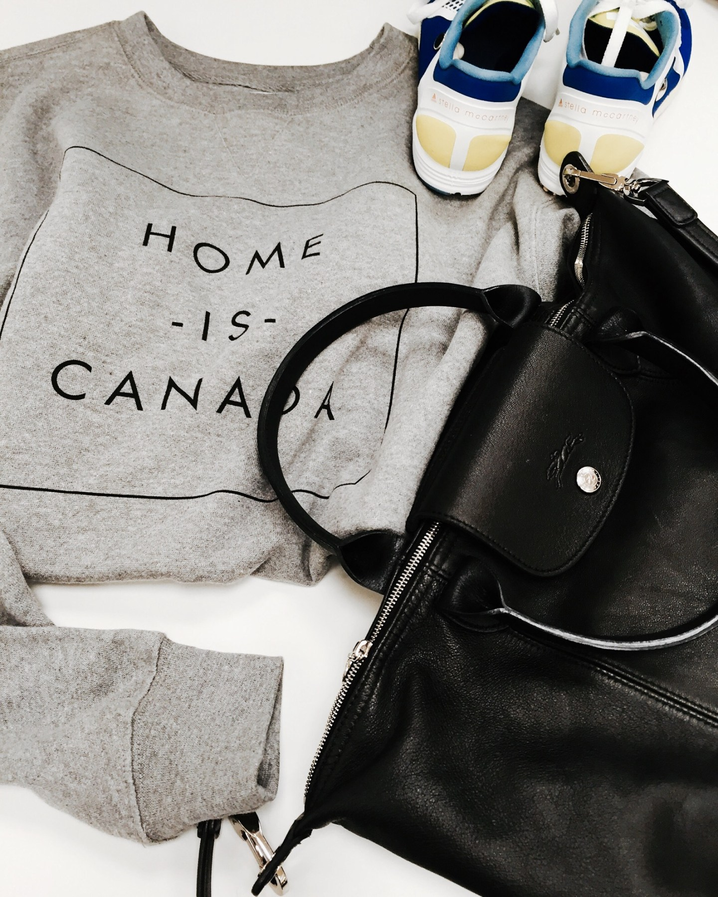 Outfit of the day: peace collective hoodie. Stella mcCartney sneakers