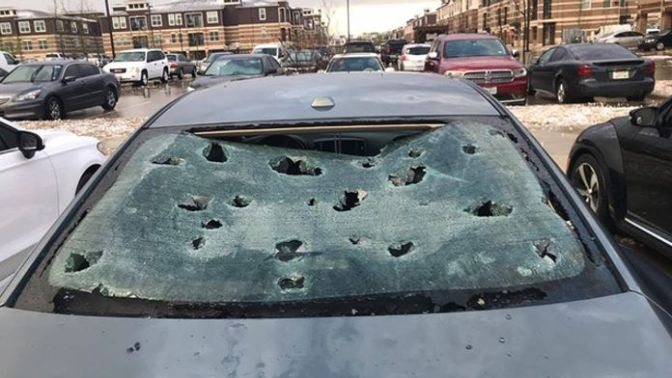 Sunday night's storm resulted in a lot insurance claims for hail damage.