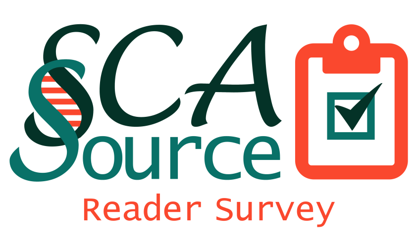 SCAsource reader survey logo, which is a clipboard that has a box with the checkmark in it