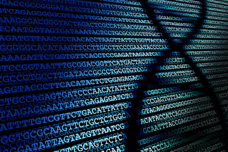 Abstract background of DNA sequence