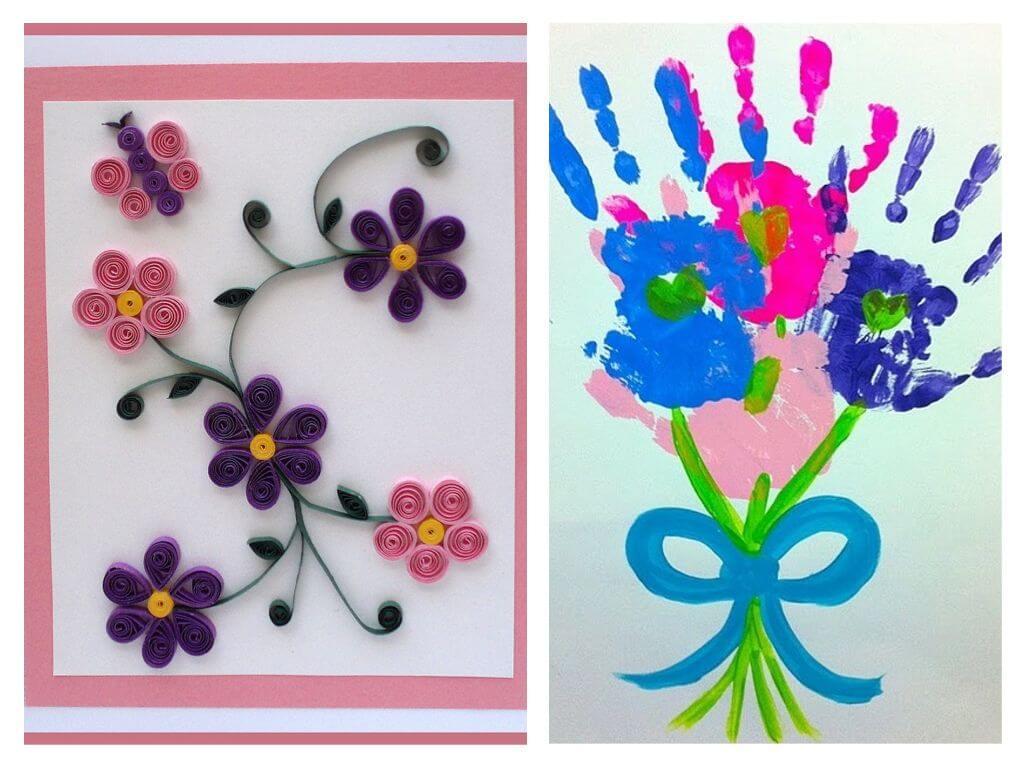 Сделать своими руками открытку на 8 марта для бабушки, летием татьяне