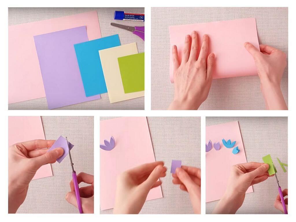 Днем, открытки маме из белой бумаги