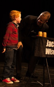 Jack Wise and a volunteer.