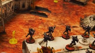 Eldar Warpspiders advance using their warp generator backpacks. Photo: Leonard Dime
