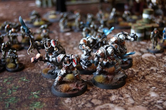 Brother Captain Severus and his unit of Grey Knight terminators.