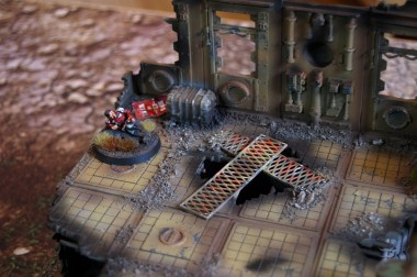 A wounded officer, such a fitting objective marker for the 'Retrieval' scenario!