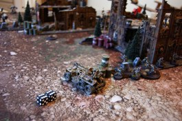 Jacob then enters his shooting phase by placing two rockets from the commander into the Venator which dodge both hits with it's 5+ invulnerable save!