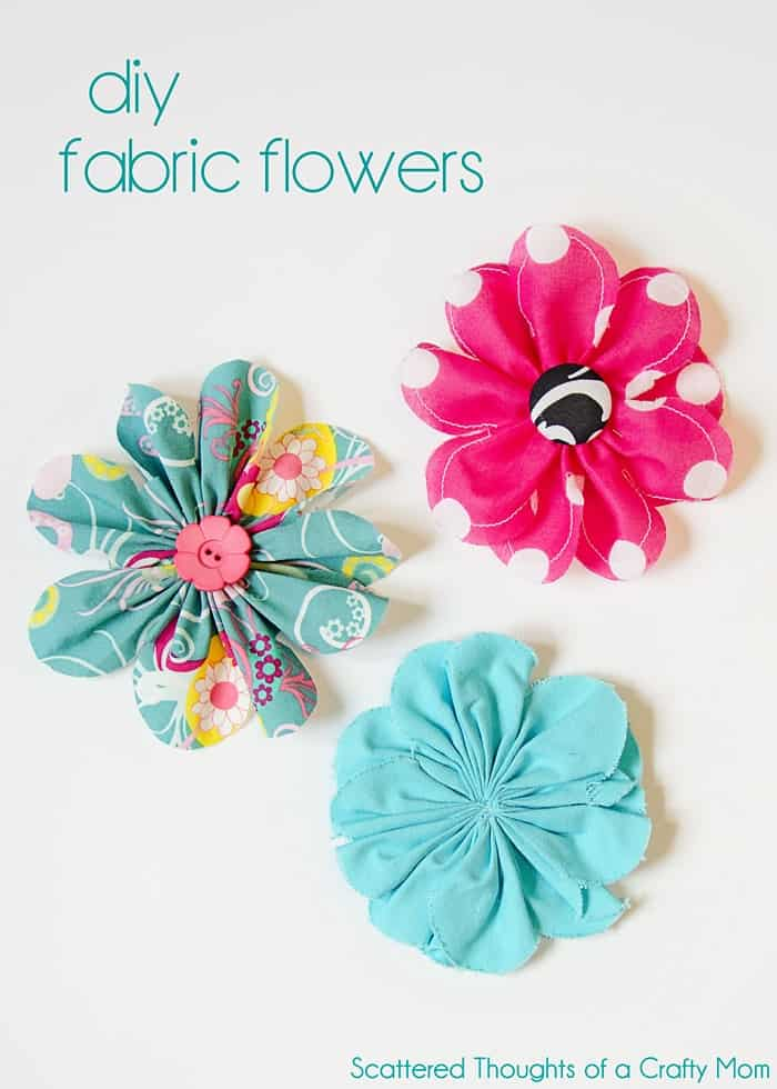 How To Make Flowers Out Of Fabric : flowers, fabric, Simple, Fabric, Flower, Tutorial, Scattered, Thoughts, Crafty, Jamie, Sanders