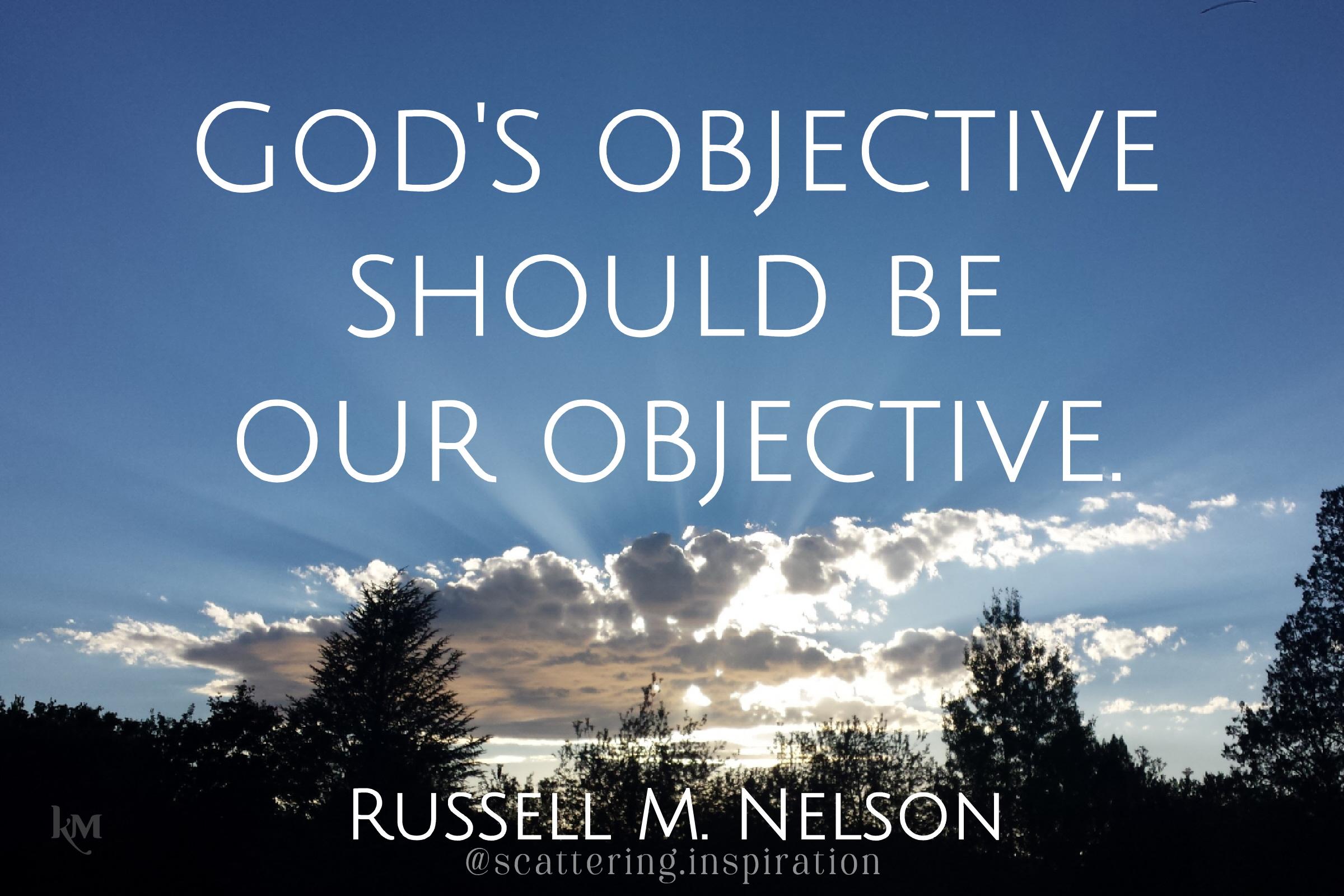 Gods objectives