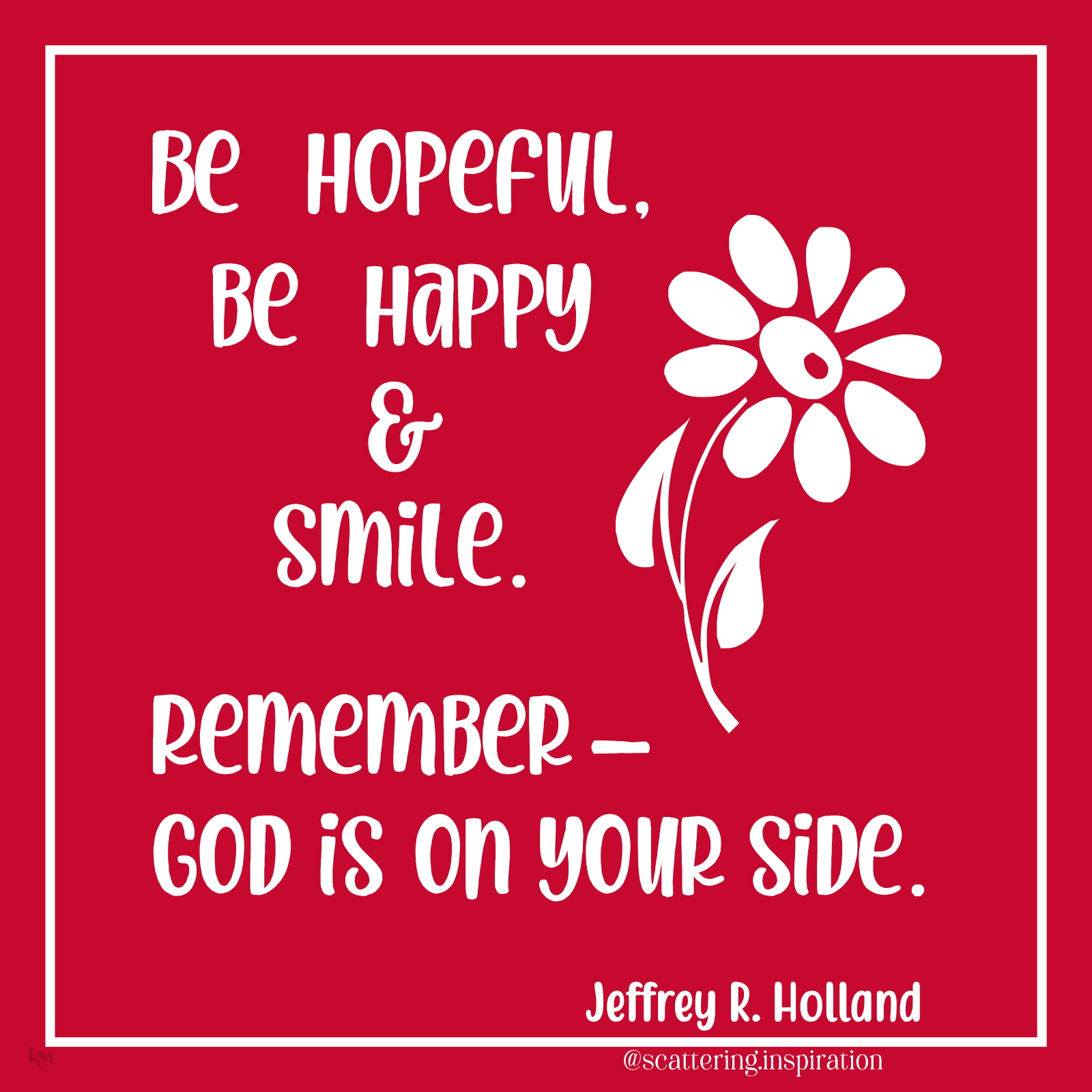 be hopeful happy smile