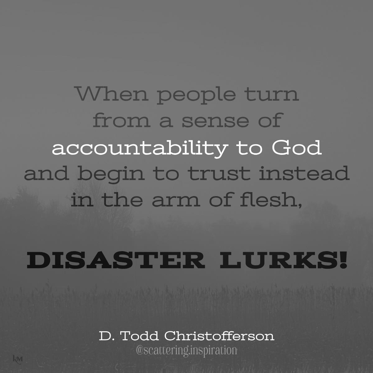 disaster lurks