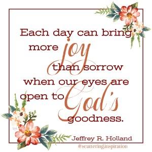 eyes open to God's goodness