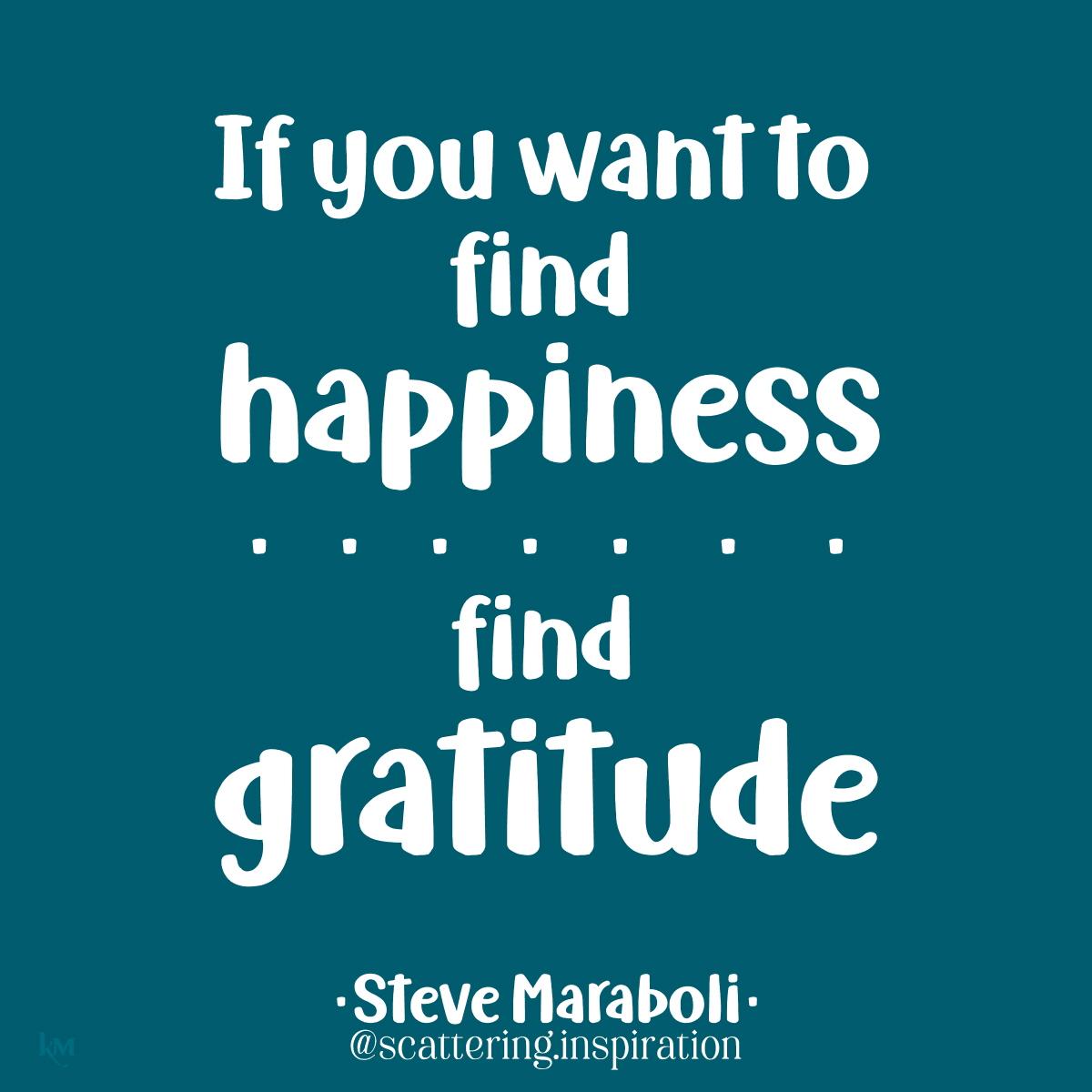 find gratitude