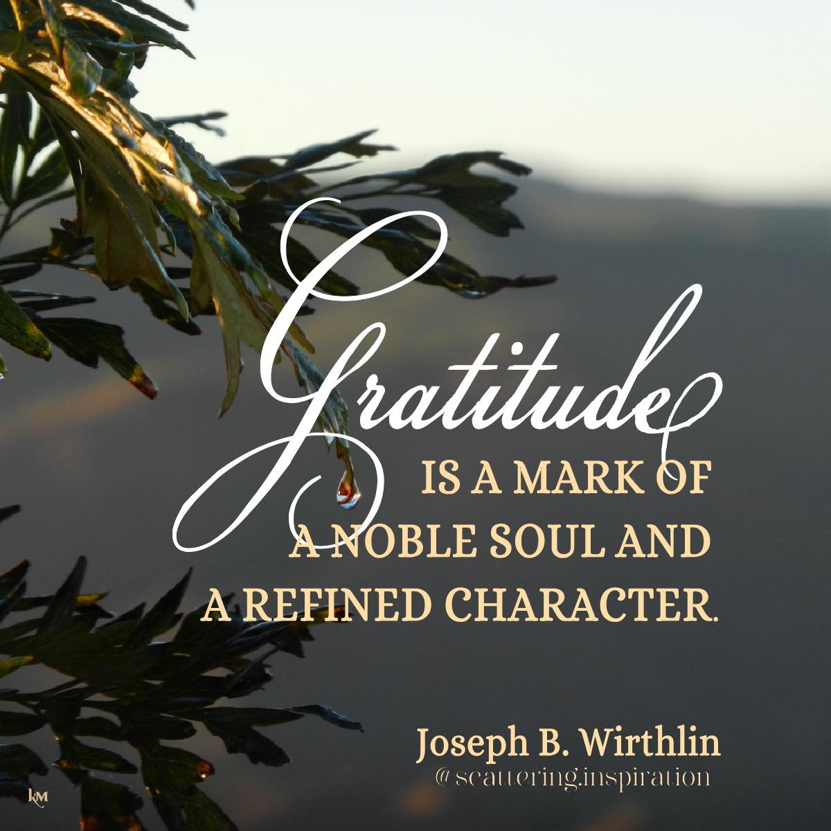 gratitude mark