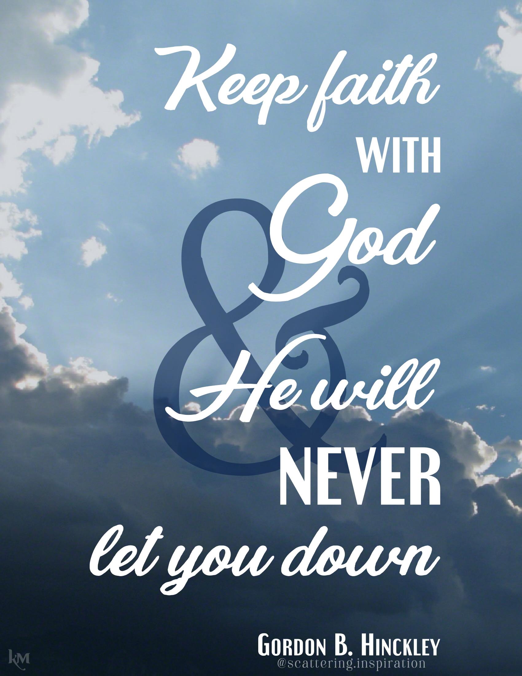 keep faith with God