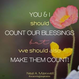 make them count