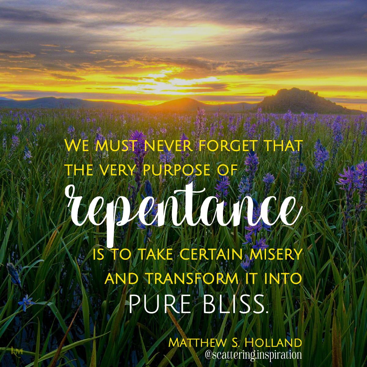 purpose of repentance