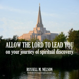 allow the Lord to lead you