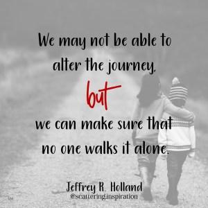 no one walks alone