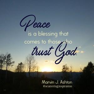 peace trust God