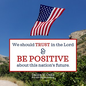 trust and be positive