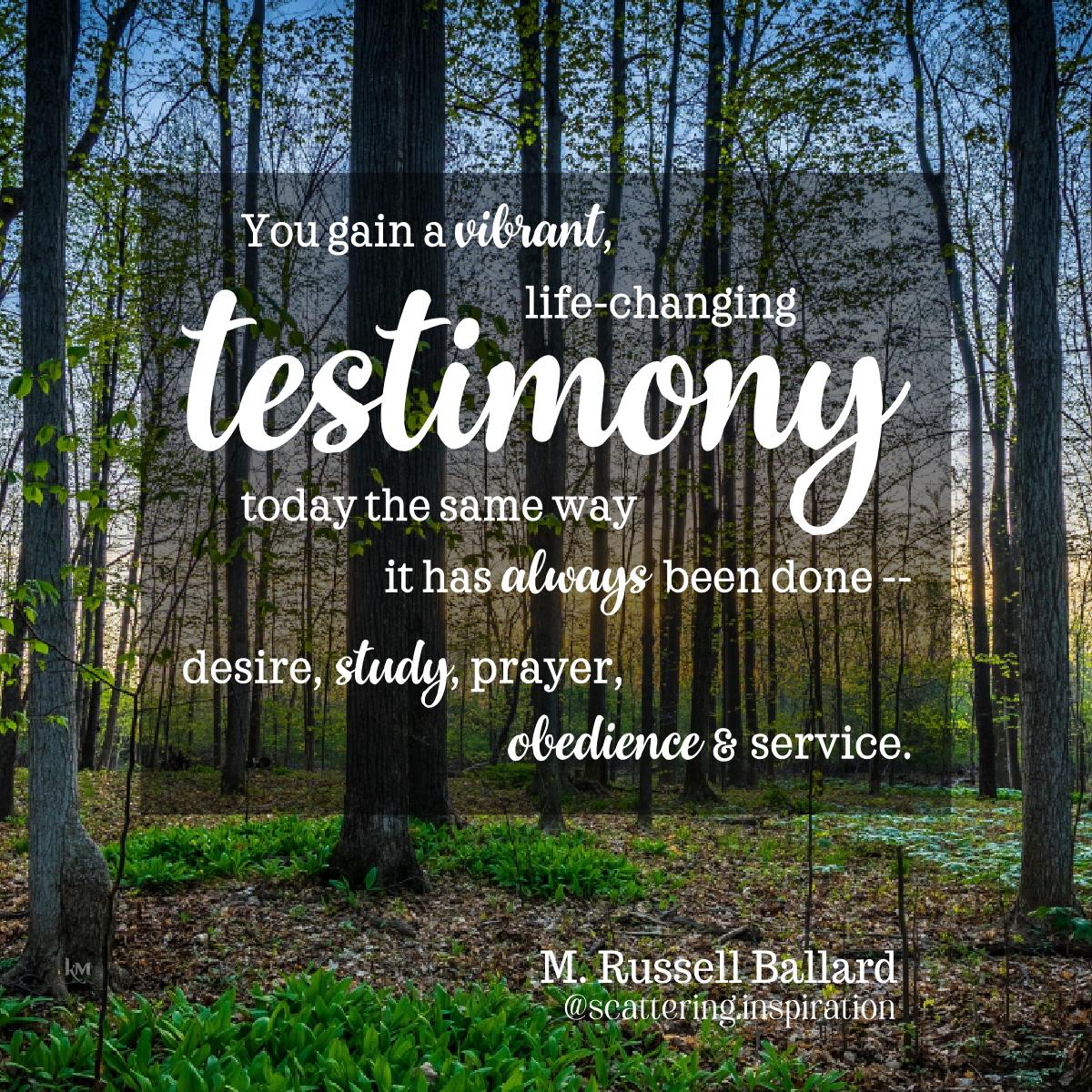 vibrant life-changing testimony