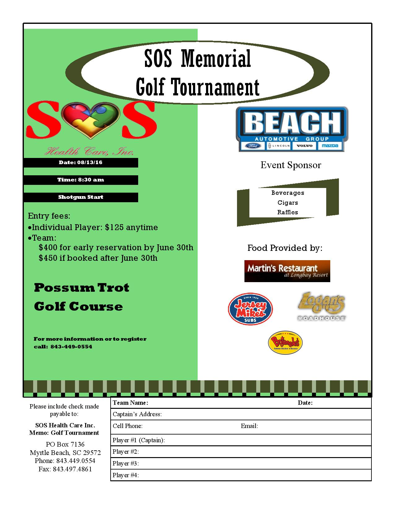SOS memorial Golf Tournament