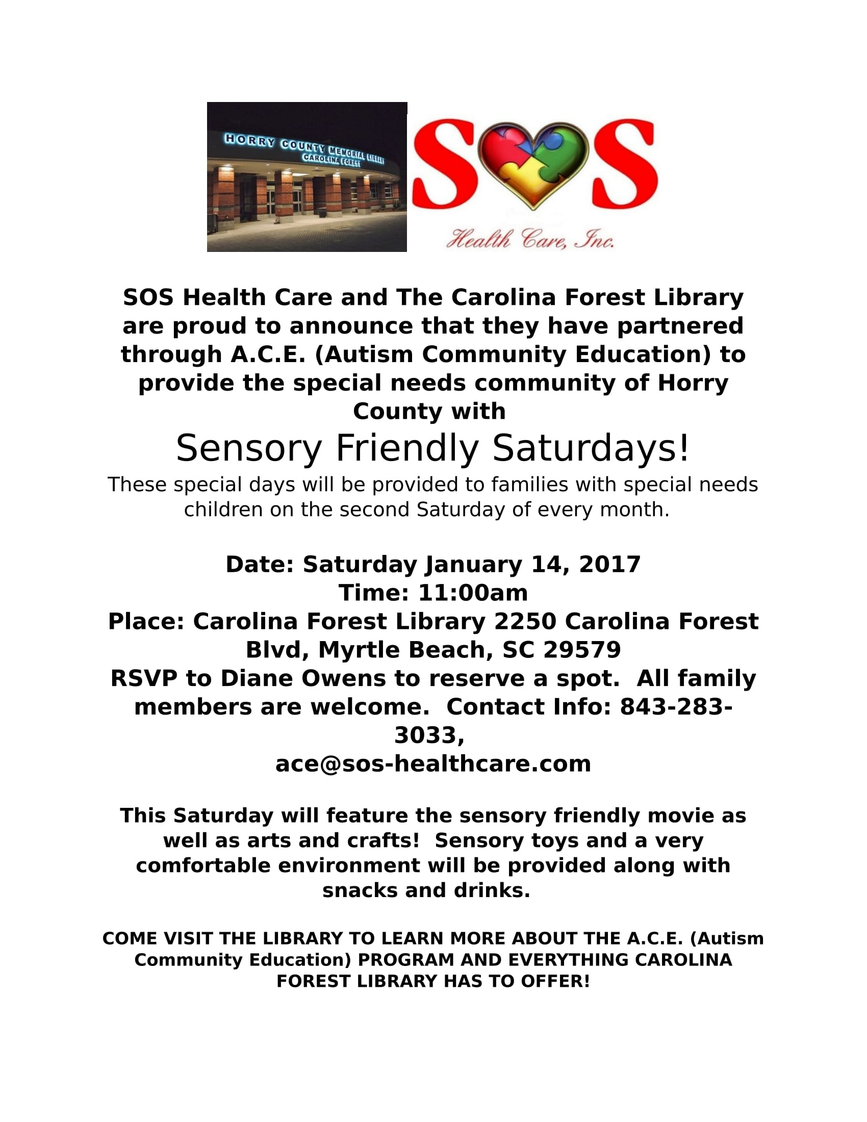 Carolina_Forest_Library_Autism_Community_Education