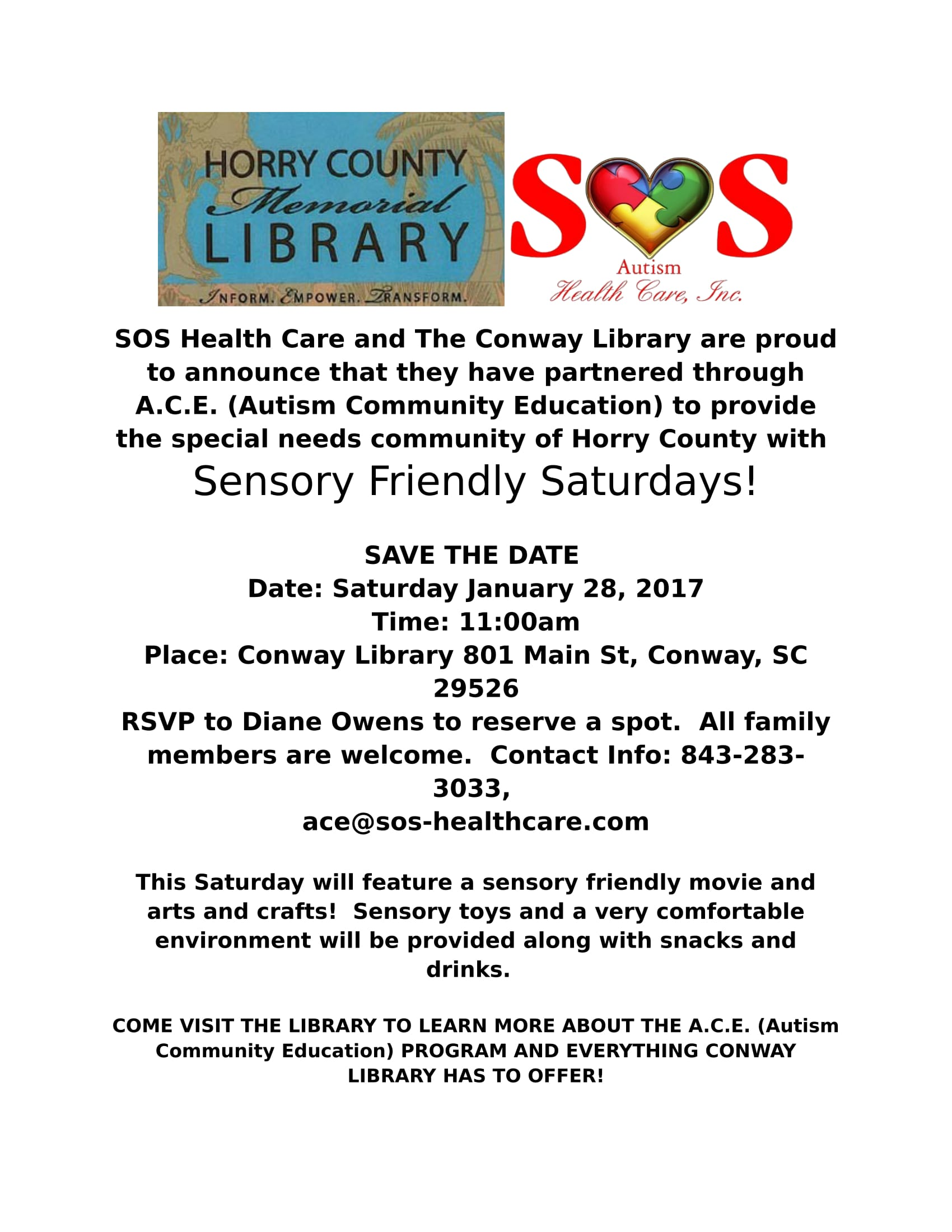 Conway Sensory Friendly Fridays