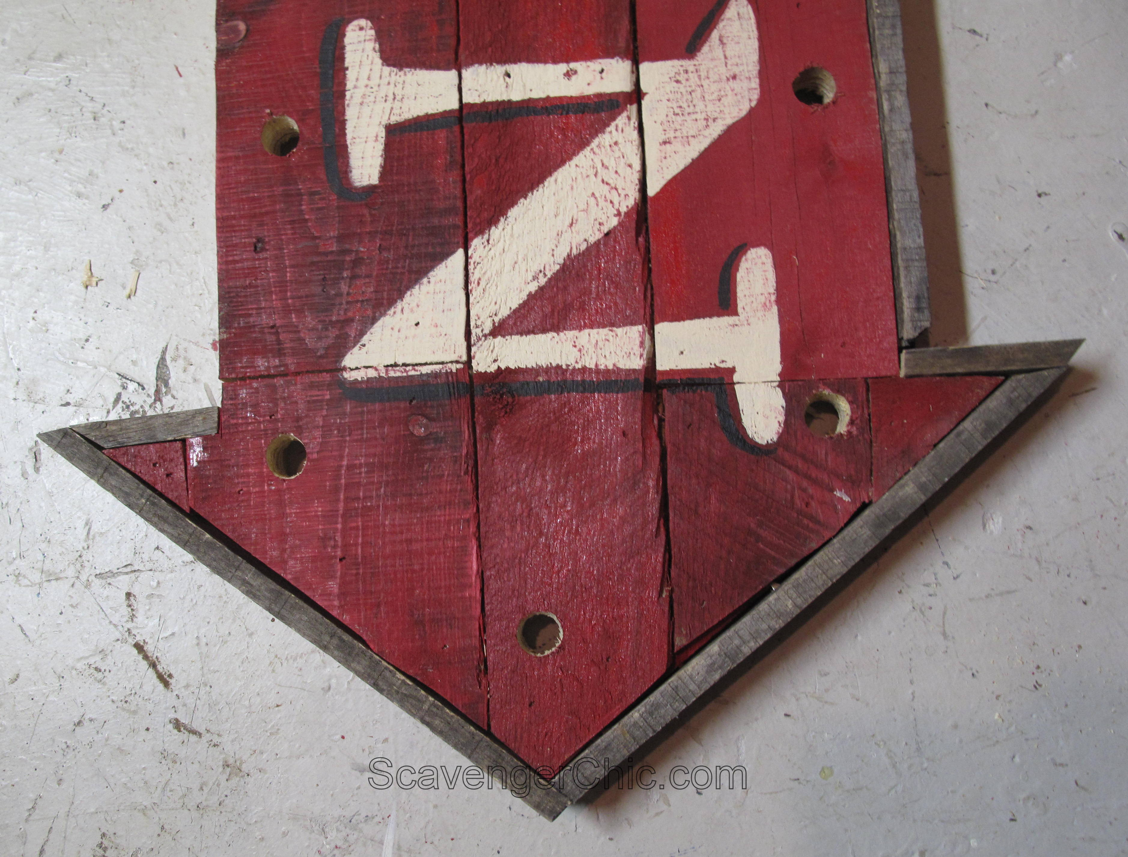 Well-known Pallet Wood Open Sign with Lights diy – Scavenger Chic RI98