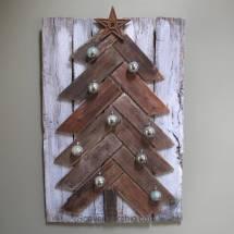 Pallet Wood Christmas Tree Diy - Scavenger Chic