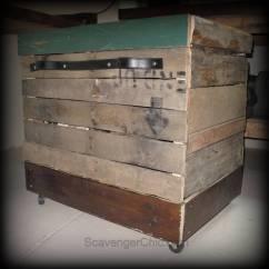 Under Cabinet Shelving Kitchen Ceramic Knobs Pallet Wood Rolling Storage Cart - Scavenger Chic