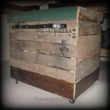 Pallet Wood Rolling Storage Cart - Scavenger Chic