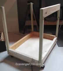 Pallet Wood Projects Rolling Storage Cart Scrap