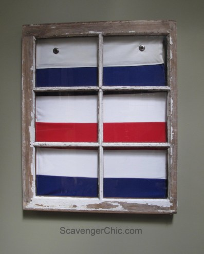 Vintage Windows And Signal Flags Wall Decor Scavenger Chic
