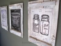 Pallets and Calendars diy Wall Art - Scavenger Chic