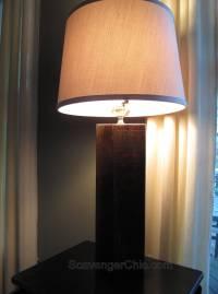 Rustic Pallet Wood Lamp - Scavenger Chic