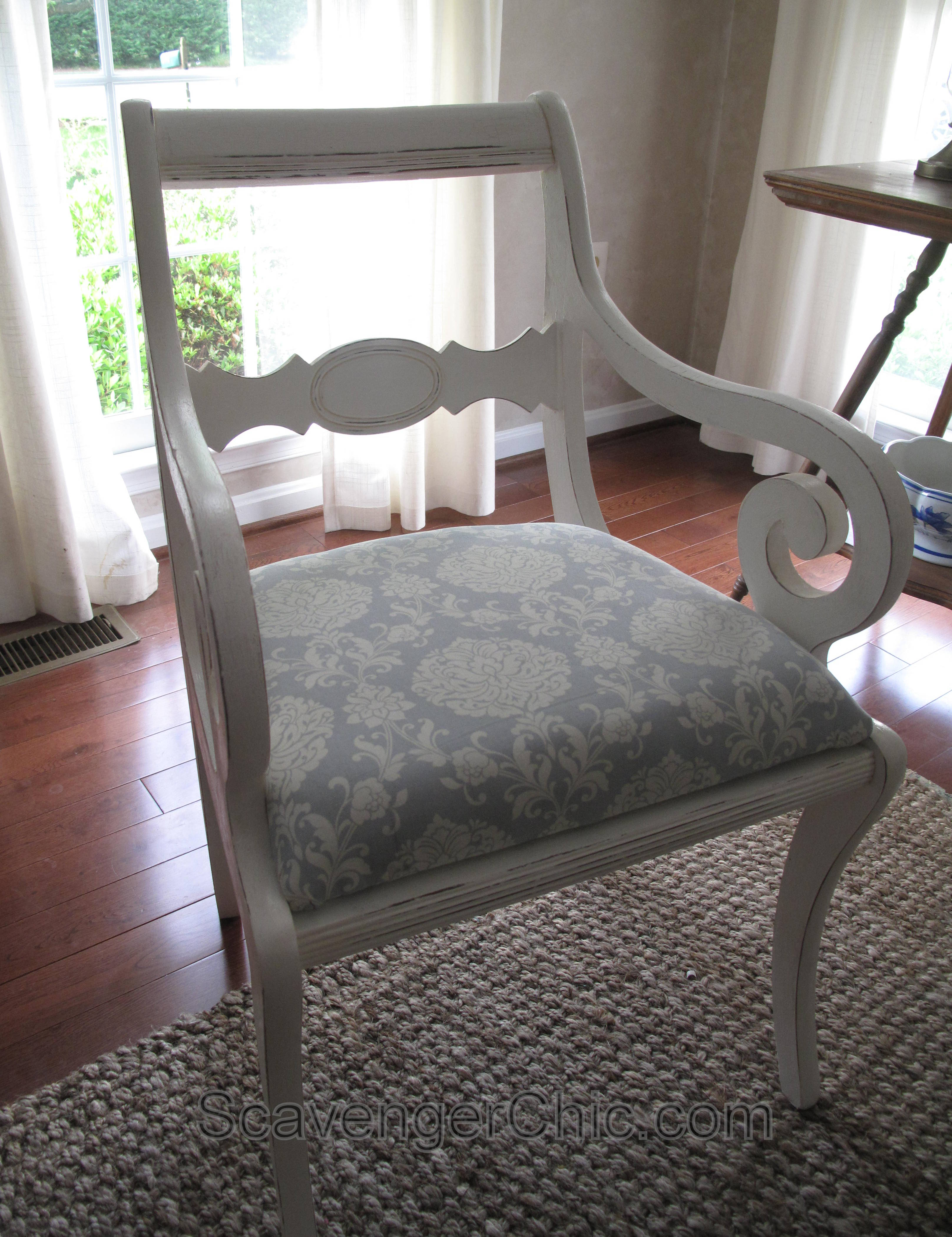 Upholstering a Dining Room Chair  Scavenger Chic