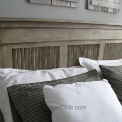 Chair Side Tables With Storage Parson Covers Canada Upcycled Shutter Headboard - Scavenger Chic