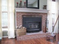 Painting my Ugly Brick Fireplace - Scavenger Chic