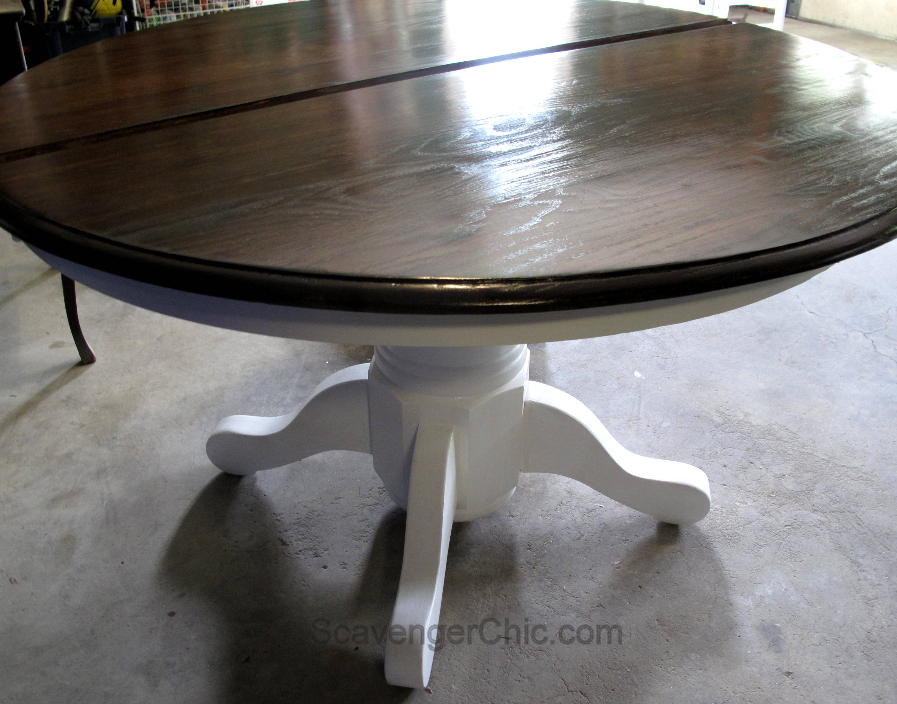 pedestal table and chairs zero gravity chair oversized makeover scavenger chic