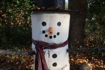 Four Foot Log Snowman - Scavenger Chic