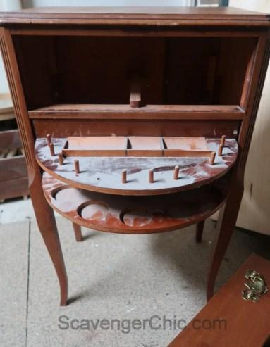Updated Vintage Sewing Cabinet, Vintage Sewing Cabinet