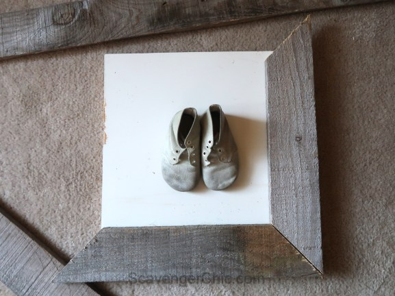 Pallet Wood Shadow Box, Dad's Shoes on Display - Scavenger ...