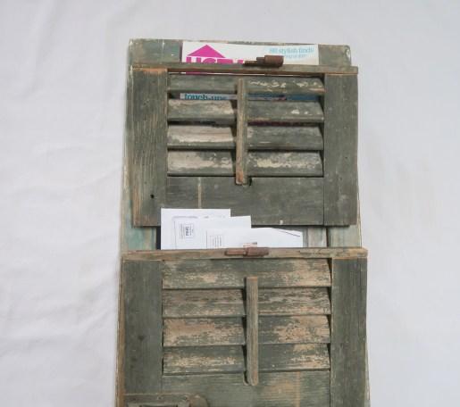 Diy Magazine Rack: Upcycled Vintage Shutter Magazine Rack