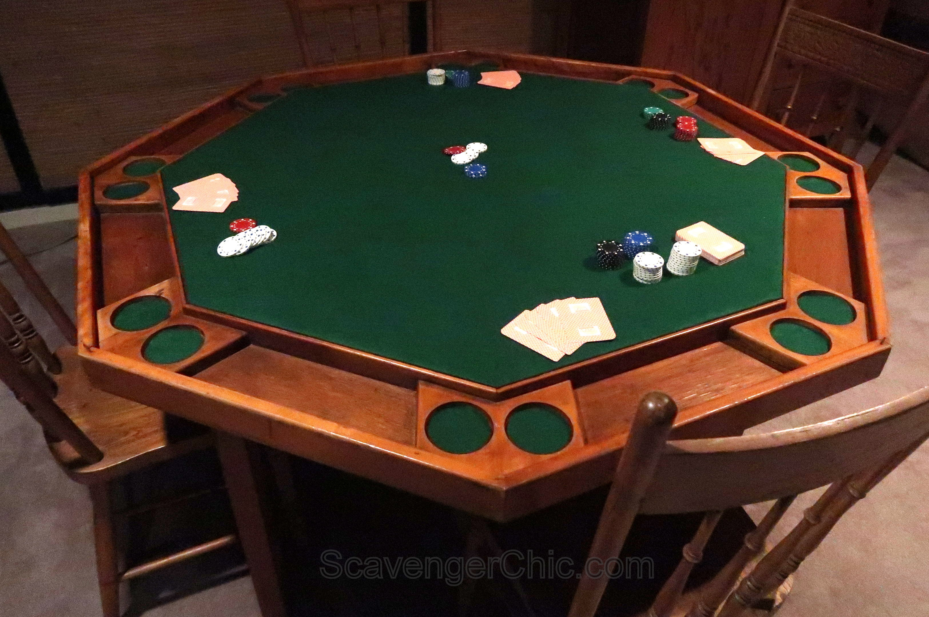 Flea Market Find and Refelting a Poker Table - Scavenger Chic