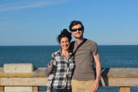 Brian and I on the pier