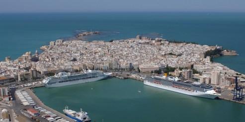 SCB Spain Convention Bureau. Cádiz. VISTA AEREA PUERTO DE CRUCEROS